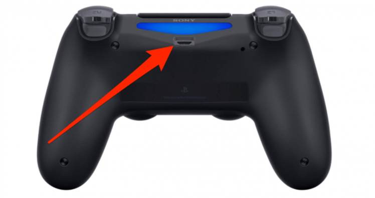 Image of PS4 Controller's Charging Port