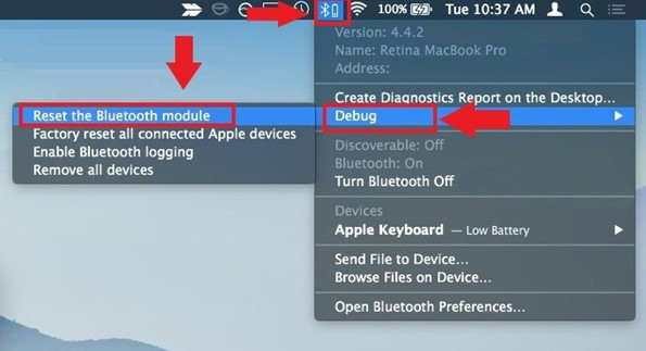 How to reset Bluetooth In MAC OS