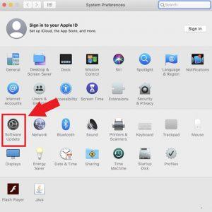 System Preference Menu in MAC
