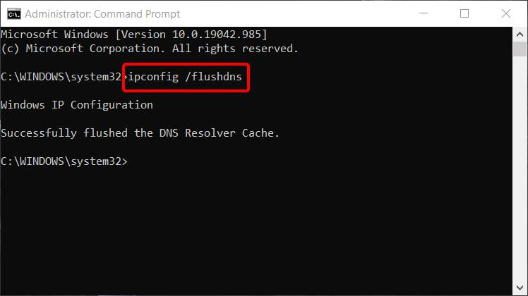 How to Flush the DNS Settings in windows