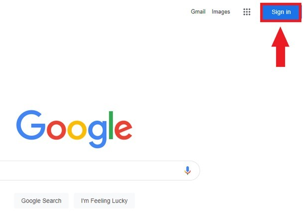 How to sign in from Google homepage