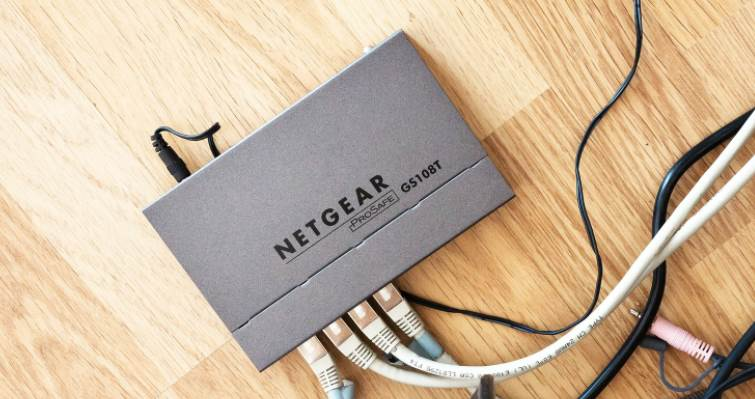 Image of a netgear router