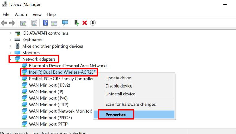 update your network adapters in windows