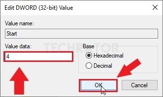 change the value of start registry of appxsvc