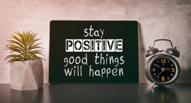 stay positive infographic